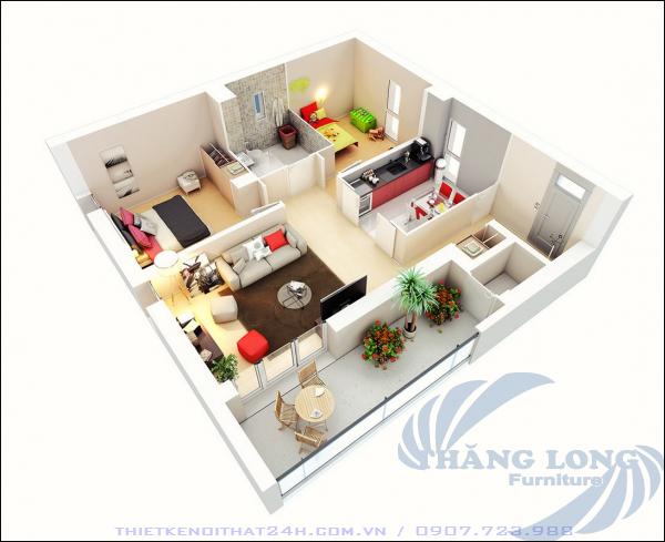 12 Thiết kế căn hộ nhỏ 2pn - P1