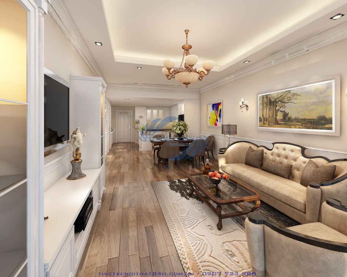 Thiết kế căn hộ 115m2 Royal City