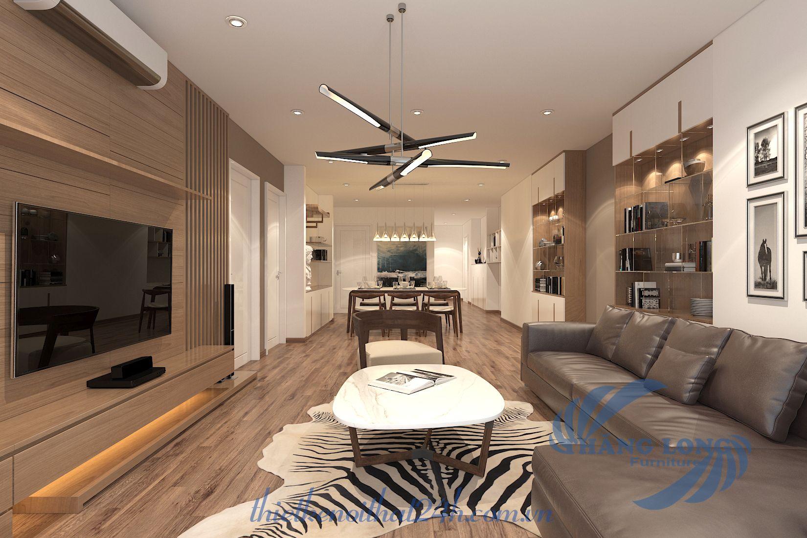 Thiết kế căn hộ Ecolife Capitol - A2 trục số 03