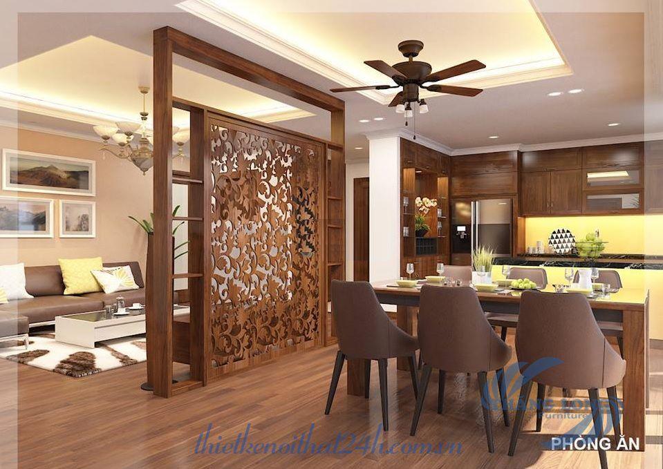 Thiết kế nội thất gỗ sồi chung cư Đồng Phát - Park View