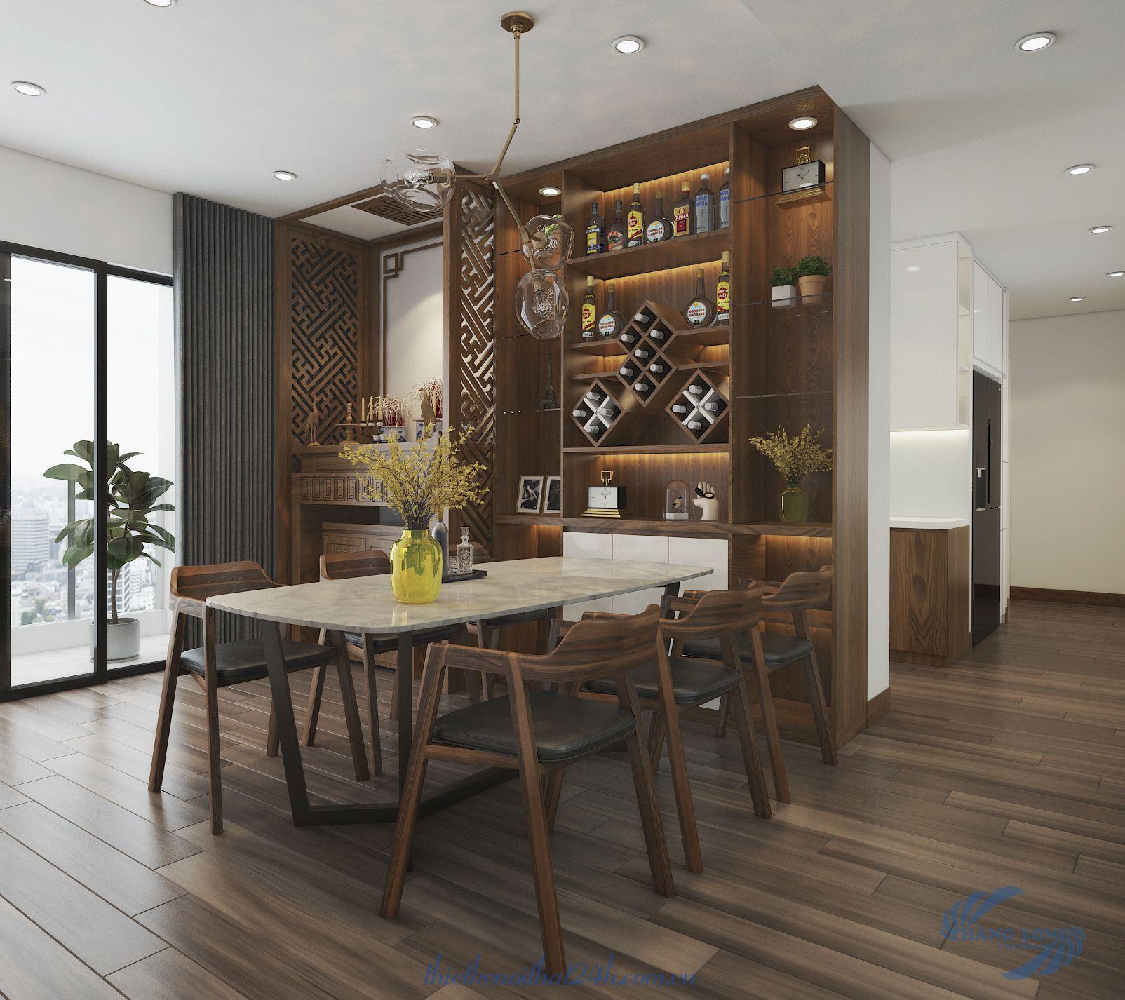 Thiết kế và thi công nội thất căn hộ 103m2 Gold Season