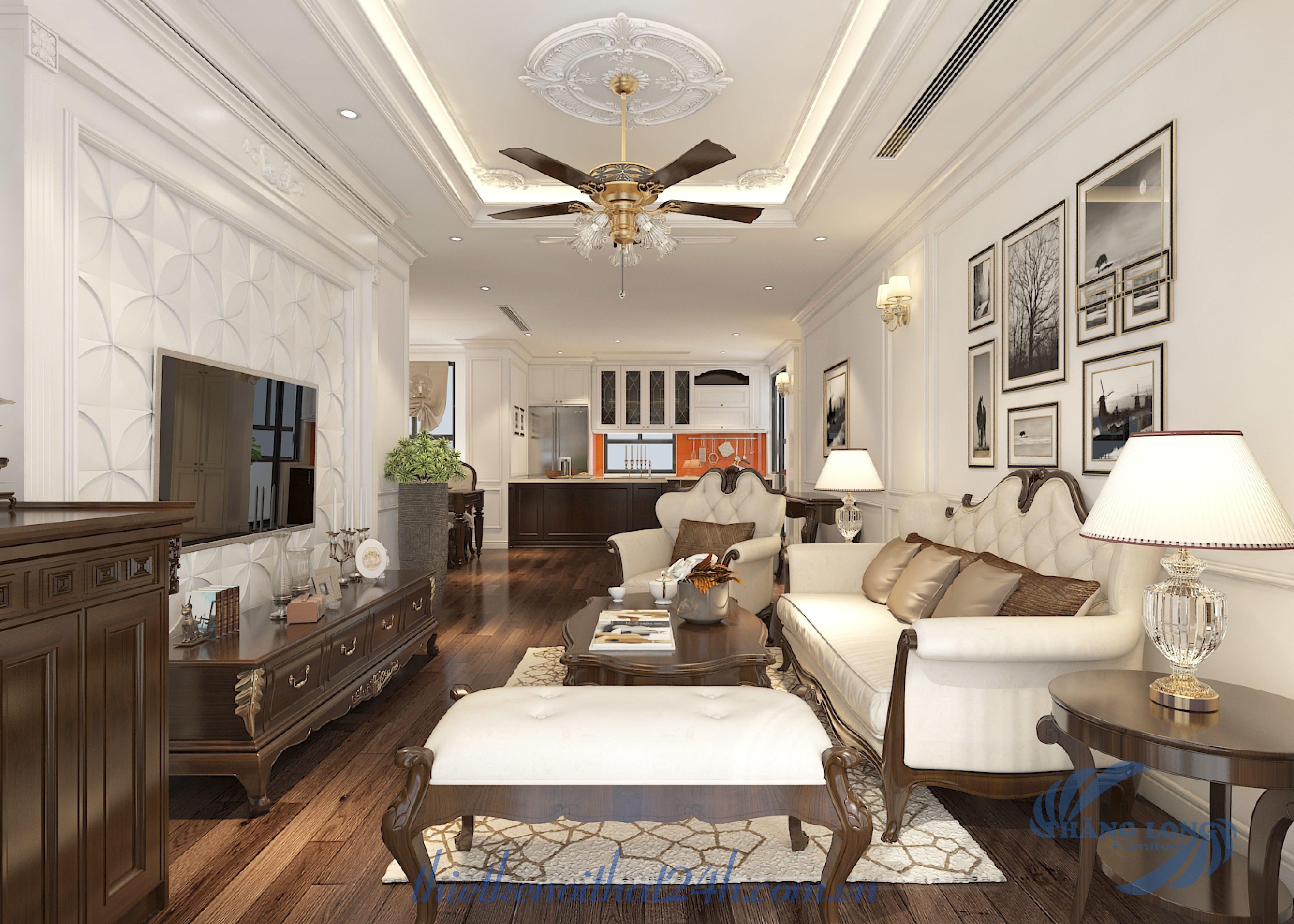 Thiết kế thi công căn hộ 3 ngủ Season Avenue