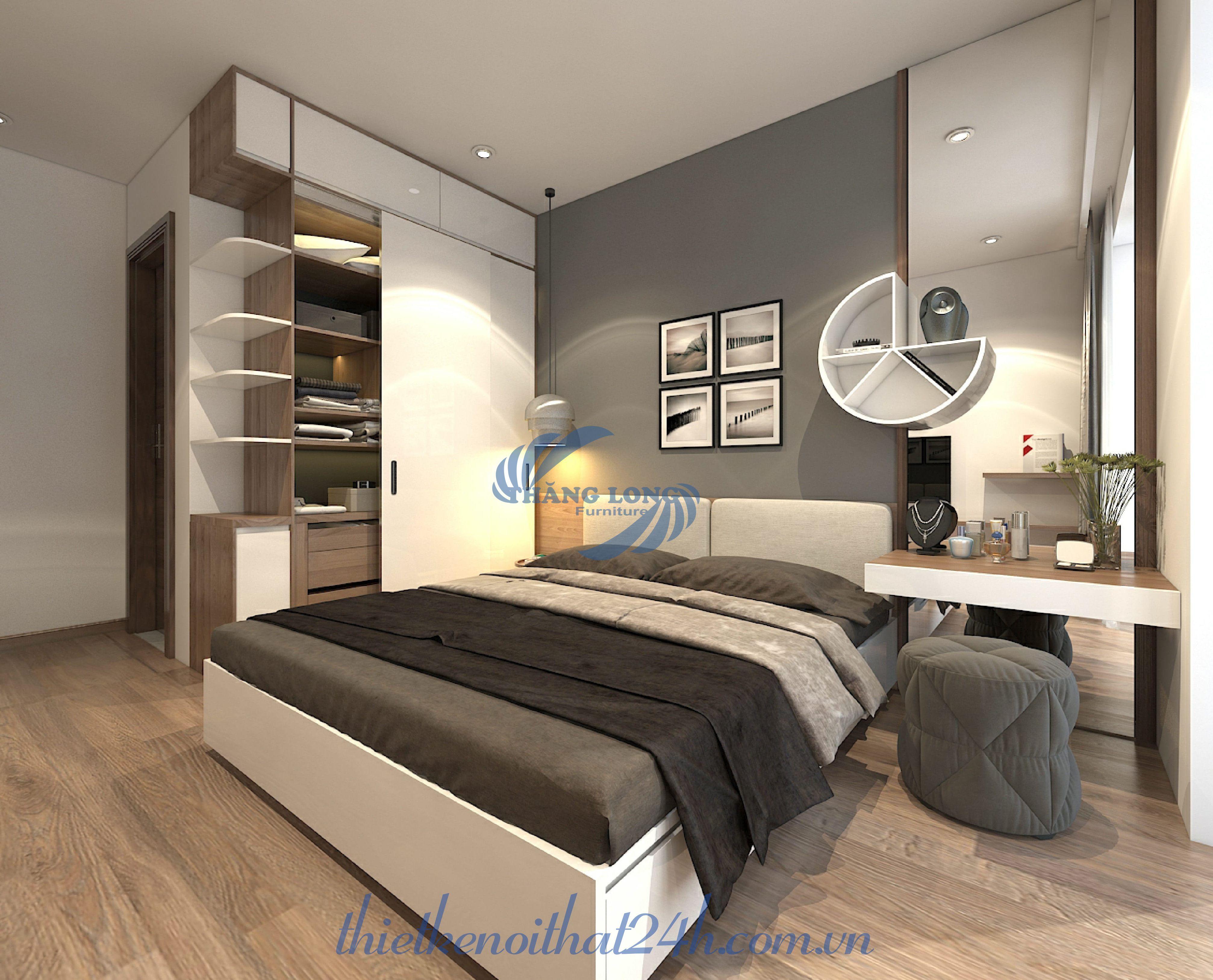 Thiết kế nội thất căn hộ 2 ngủ - Saphia Goldmark