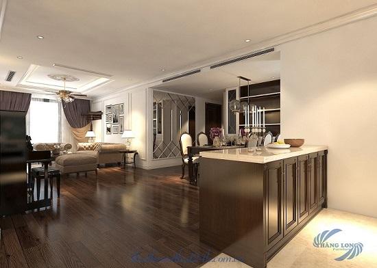 Thiết kế thi công tân cổ điển căn hộ 3 ngủ tại Season Avenue