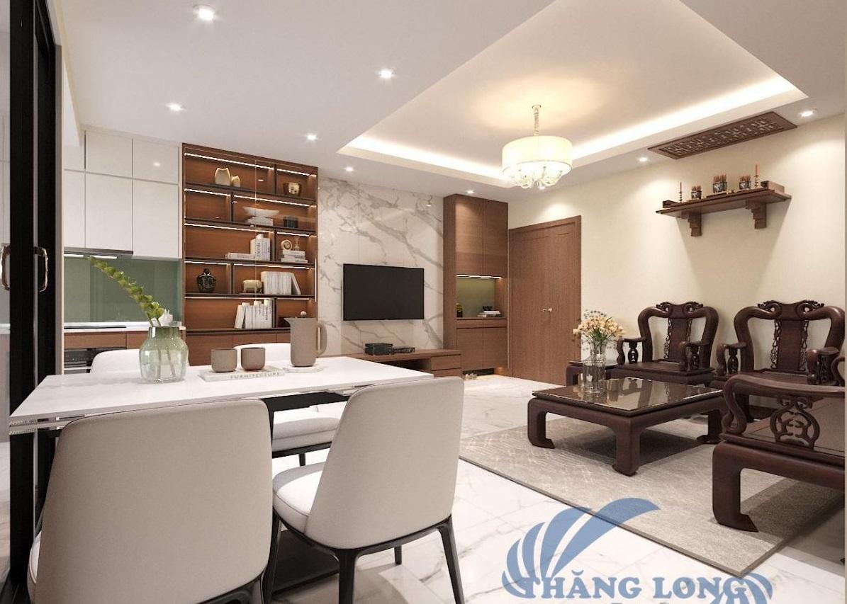 Thiết kế thi công căn 3 ngủ tại No5 Trần Thủ Độ, HM, HN