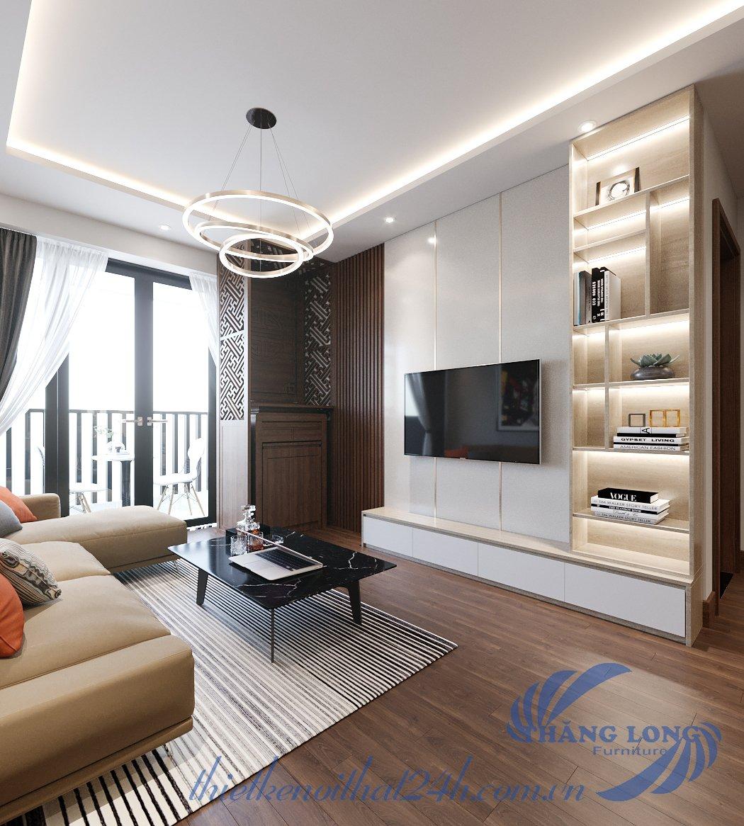Thiết kế nội thất gỗ sồi chung cư An Bình - 97 Trần Bình