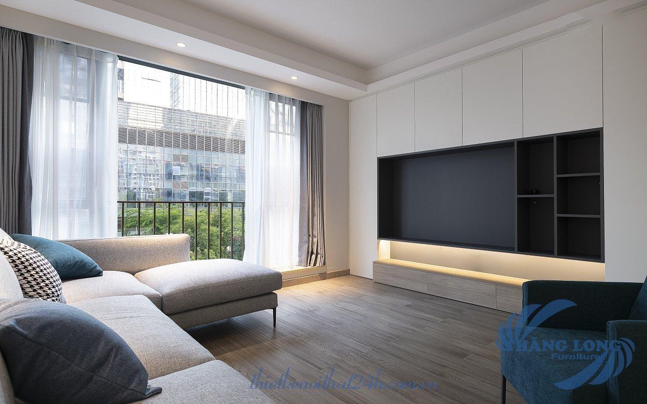 thiết kế nội thất chung cư phong cách hiện đại tối giản