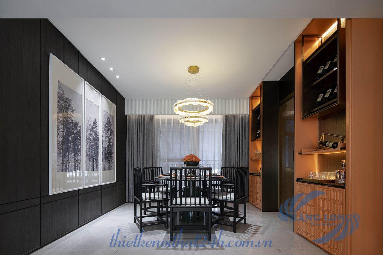 thiết kế nội thất chung cư phong cách indochine