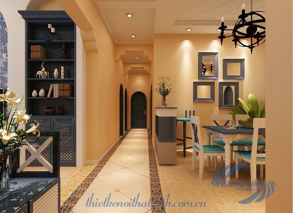 thiết kế nội thất chung cư phong cách địa trung hải