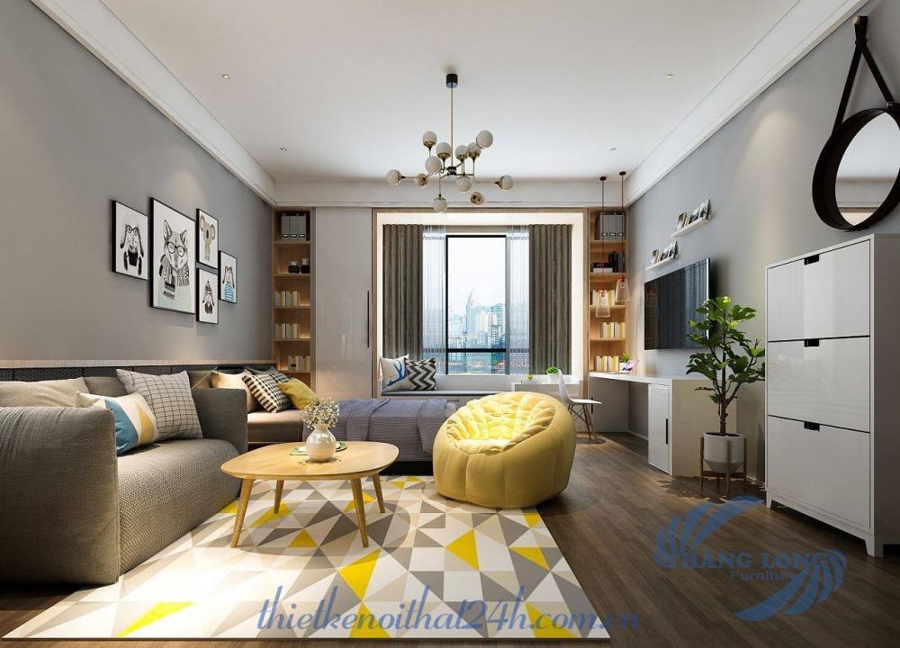 Kiểu dáng nội thất căn hộ Studio 30m2 đẹp